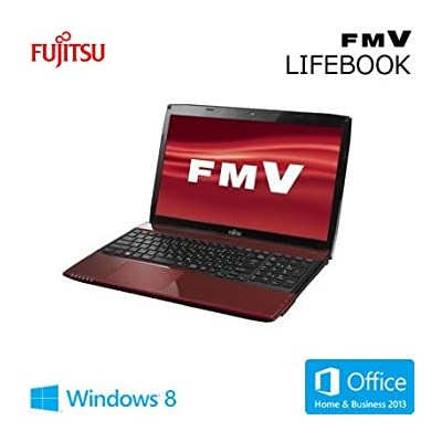 【中古】富士通 LIFEBOOK AH45/M [Office付き] FMVA45MRP (ルビーレッド)