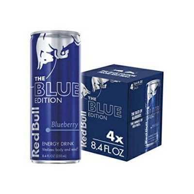 Red Bull Energy Drink, Blueberry, 4 Pack of 8.4