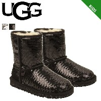 UGG アグ ムートンブーツ クラシック ショート キッズ KIDS CLASSIC SHORT SPARKLES 1004885KK シープスキン 【CLEARANCE】【返品不可】