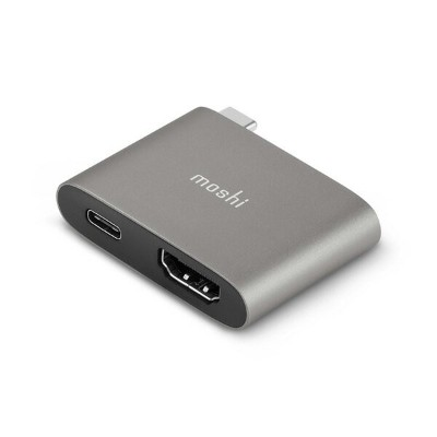 moshi USB-C to HDMI Adapter with Charging (Titanium Gray)