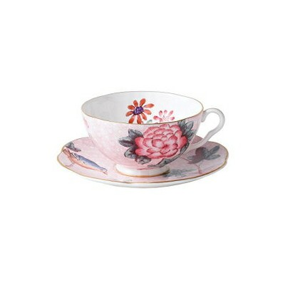 Wedgwood Harlequin Cuckoo Tea Story Teacup and Saucer, Pink