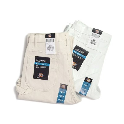 DICKIES ディッキーズダブルニー ペインターパンツ ナチュラル/ホワイトPAINTERS DOUBLE KNEE UTILITY PANTS NATURAL/WHITE