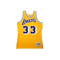 MITCHELL&NESS AUTHENTIC THROWBACK JERSEY (Los Angeles Lakers 1984-85/Kareem Abdul-Jabbar: Yellow...