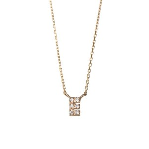 mint jam K10YG TINY LETTERED Diamond NECKLACE 【E】○LP04182 Yellow gold ジュエリー・アクセサリー