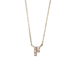 mint jam K10YG TINY LETTERED Diamond NECKLACE 【F】○LP04670 Yellow gold ジュエリー・アクセサリー