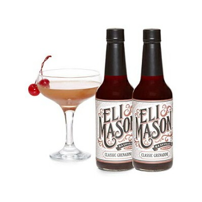 Eli Mason Grenadine Cocktail Mixer - All-natural Grenadine Cocktail Mix - Real Cane Sugar, Pomegranates & Proprietary Blend Of Cocktail Bitters - Made In USA, Small Batch Cocktail Mixes - 20 Ounces