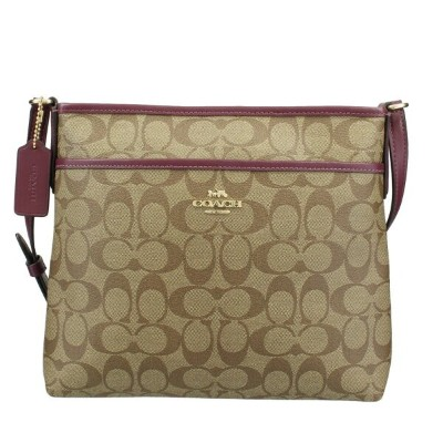 COACH OUTLET コーチ アウトレット ショルダーバッグ カーキ ダークベリー 29210 IMQEO