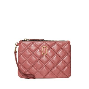 Marc Jacobs The Quilted Softshot Wristlet ポーチ - ピンク
