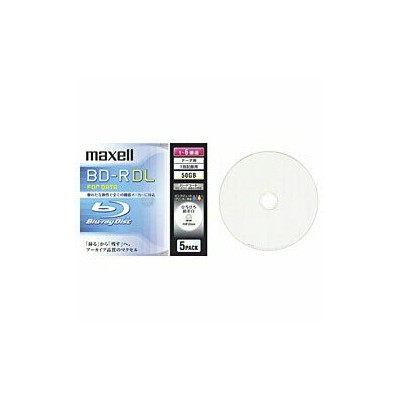 maxell 1〜6倍速対応 データ用Blu-ray BD-R DLメディア (50GB・5枚) BR50PWPC.5S BR50PWPC5S