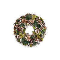 【28%OFF】クリスマスリース Snowy Pinecone Wreath-Green Needle M