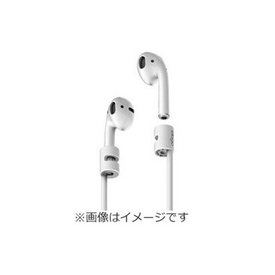ELAGO AirPods(エアーポッズ)用ネックストラップ STRAP for AirPods EL APDSRSCAS WH ホワイト ELAPDSRSCASWH