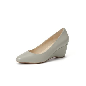 【50%OFF】THE GO-TO WEDGE 60MM ウェッジパンプス ライムストーン 6