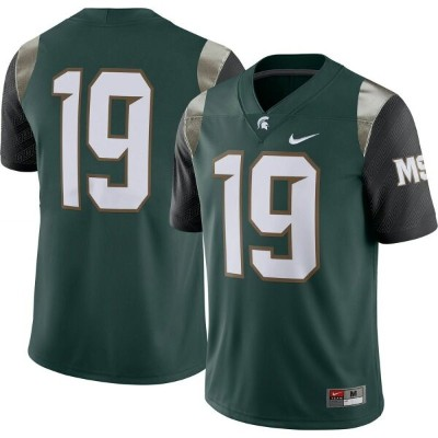 ナイキ Nike メンズ トップス ドライフィット【Michigan State Spartans #19 Green Dri-FIT Limited Football Jersey】