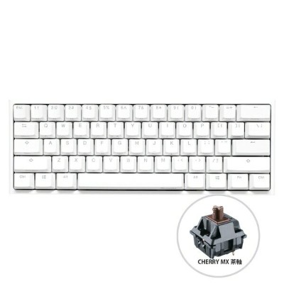 DUCKY ダッキー dk-one2-rgb-mini-pw-brown-rat ゲーミングキーボード One 2 Mini RGB(英語配列) Pure White Cherry 茶軸 [USB ...