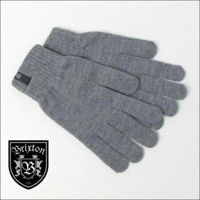 BRIXTON グローブ(手袋) HEIST FULL FINGER GLOVELIGHT HEATHER GREY(ブリクストン)