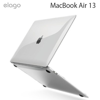 【マラソンクーポン有】 elago MacBook Air 13インチ 2020 Ultra Slim Case Clear # EL_M23CSPCUC_CL エラゴ (Mac カバー)