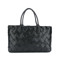 Bottega Veneta Intrecciato weave large leather tote bag - ブラック