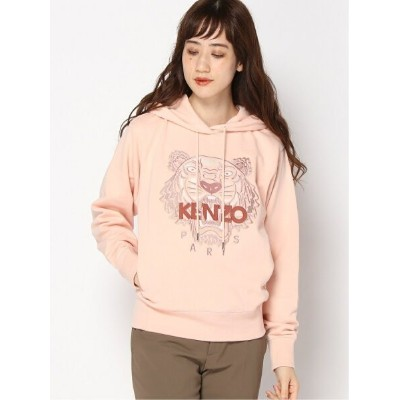 KENZO (W)FW20 Classic Tiger Hoodie W ケンゾー カットソー パーカー ピンク ブラック【送料無料】