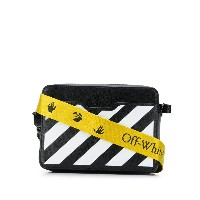Off-White small diagonal stripes camera bag - ブラック