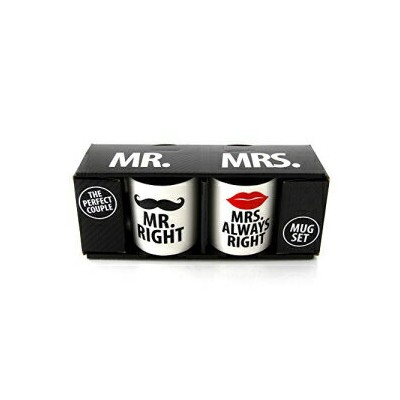 Our Name is Mud Mr. and Mrs. Stoneware Coffee Mu