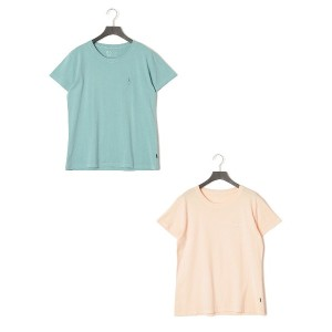 【50%OFF】OBLIQUE LINE Tシャツ 2枚セット アクア&ピンク m