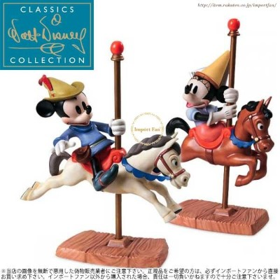 WDCC ミッキー ミニー ミッキーの巨人退治 カルーセル 4004836 Mickey and Minnie Mouse Carousel Sweethearts □