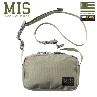 【15%OFFクーポン対象】ミリタリー バッグ / MIS エムアイエス MIS-1027P PACK CLOTH NYLON ショルダーバッグ MADE IN USA - FOLIAGE【Sx】 ...