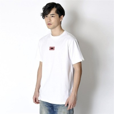 【VANSアパレル】 ヴァンズ Tシャツ Checher 3D Embroidery S/S Tee CD18SS-MT11 WHT/RED