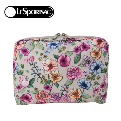 レスポートサック ポーチ 7121 F654 SUNSHINE GARDEN LeSportsac EXTRA LARGE RECTANGULAR COSMETIC 化粧ポーチ コスメポーチ...