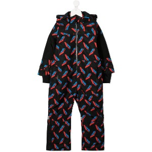 Stella McCartney Kids Thunderbolt スノースーツ - ブラック