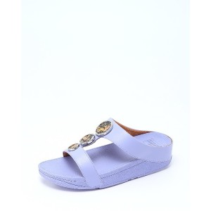 fitflop HALO FLOWERCRUSH SLIDE○R05665 Frosted lavender コンフォート