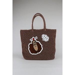 LUDLOW(Women)/ラドロー  Cord bag with animal motif(L size) COCOA【三越伊勢丹/公式】 バッグ~~トートバッグ~~レディース トートバッグ
