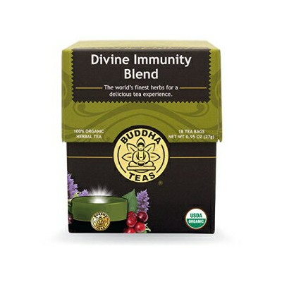 Buddha Teas Divine Immunity Blend, 18 Count (Pack of 6)