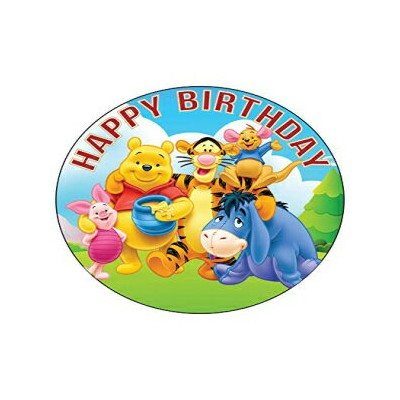 Happy Choices 7.5 Inch Edible Cake Toppers – Winne Pooh Themed Birthday Party Collection of Edible...