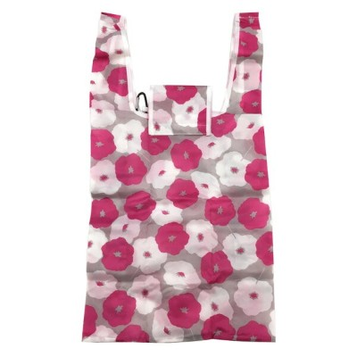 ECO BAGグッズ エコバッグ フラワー ピンク 593606