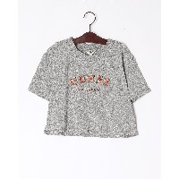 SS SUPER CROP GUESS OG TEE○W91I96R3544 ヘザーグレー トップス