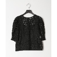 VIVIENNE TAM CHEMICAL LACE BL○10175110 ブラック トップス