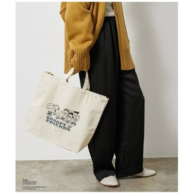 【SALE/50%OFF】Adam et Rope' Le Magasin 【PEANUTS×LE MAGASIN】コラボトート アダム エ ロペ ル マガザン バッグ トートバッグ ネイビー...