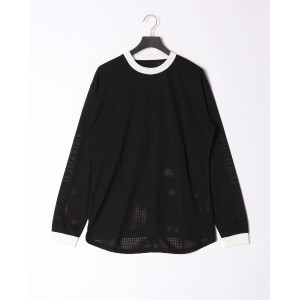 NUMBER (N)INE by color mesh long sleeve○NDT913 ブラック トップス