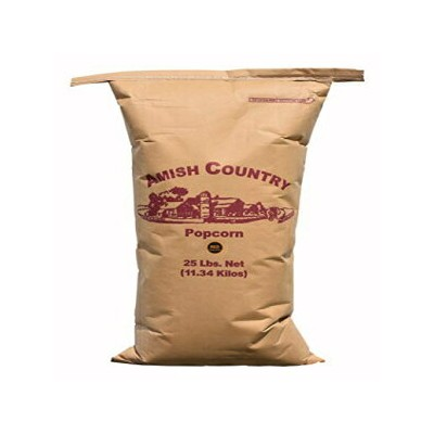 Amish Country Popcorn   25 lb Bag   Red Popcorn Kernels   Old Fashioned with Recipe Guide (Red - 25...