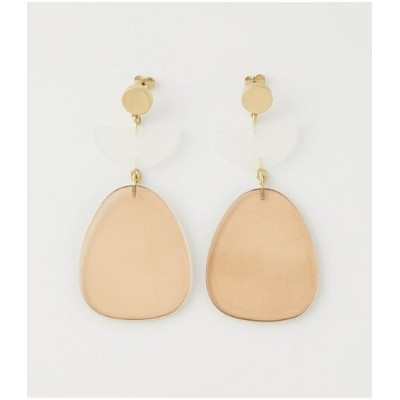 【SALE/27%OFF】AZUL by moussy CLEAR BIG MOTIF EARRINGS/クリアビッグモチーフピアス アズールバイマウジー アクセサリー ピアス ブラウン ブラック...