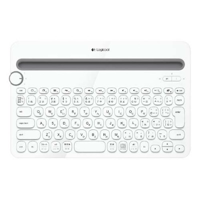 K480WH ロジクール マルチデバイス対応Bluetoothキーボード(ホワイト) Logicool Bluetooth Multi-Device Keyboard k480 [K480WH]...