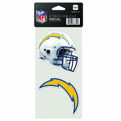 NFL ダイカットステッカー2種セット チャージャース(A) San Diego Chargers Set of 2 Die Cut Decals (A)