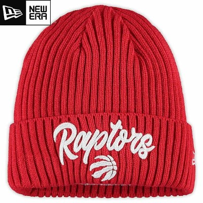 NBA On The Court ニットキャップ ラプターズ(レッド) New Era Toronto Raptors Red Draft On The Court Cuffed Knit Cap