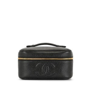 Chanel Pre-Owned 1995 ココマーク バニティバッグ - ブラック