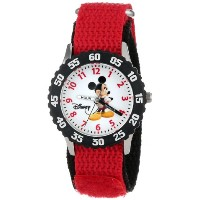 ディズニー 腕時計 キッズ 時計 子供用 ミッキー Disney Kids' W000008 Mickey Mouse Stainless Steel Time Teacher Watch