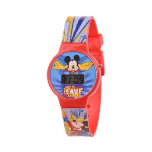 ディズニー 腕時計 キッズ 時計 子供用 ミッキー Disney Kids' W001262 Mickey Mouse Digital Display Analog Quartz Red Watch