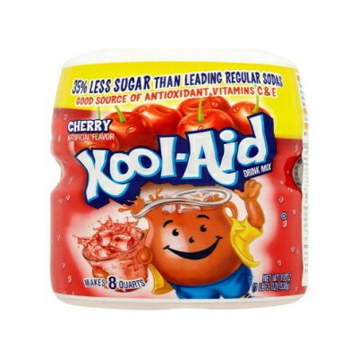 Kool-Aid Drink Mix、砂糖加糖チェリー、19オンスコンテナー(4パック) Kool-Aid Drink Mix, Sugar Sweetened Cherry, 19 oz...