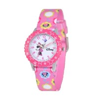 "ディズニー 腕時計 キッズ 時計 子供用 ミニー Disney Kids' W000031 ""Minnie Mouse Time Teacher"" Stainless Steel Watch..."