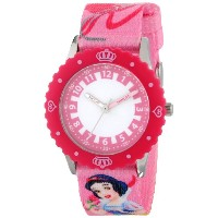 ディズニー 腕時計 キッズ 時計 子供用 白雪姫 Disney Kids' W000423 Snow White Stainless Steel Time Teacher Pink Bezel...